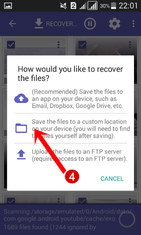 save your recover files