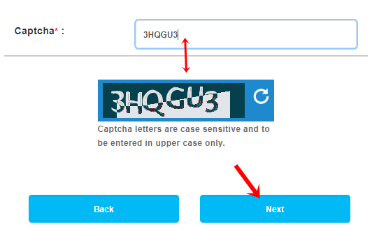 enter captcha for irctc password forgot