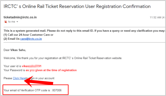 user registration confirmation